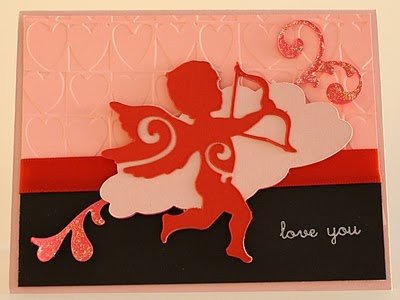 Quick Chick Designs Valentines Day Card Cricut