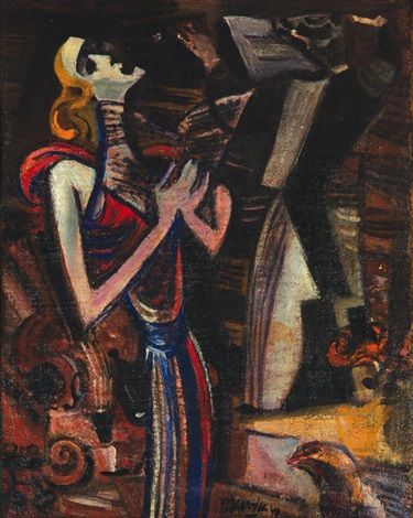 Zpěvačka by Pravoslav Kotík   Pravoslav Kotík (1889, †1970 v Praze) byl český malíř a grafik.