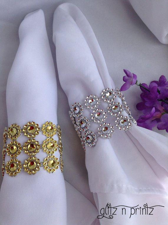 The 25 best Gold napkin rings ideas on Pinterest Gold napkins