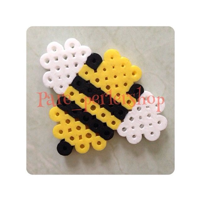 Perler beads bumble bee perler bead creations are bead for Plastic bees for crafts