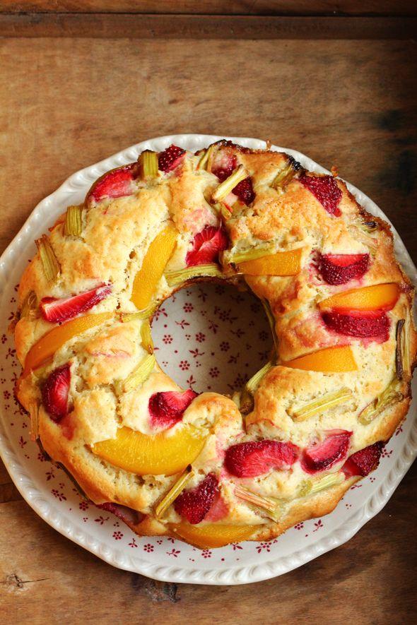 BAYADERKA- food recipes and photos. Blog kulinarny. pomysły na ciasta, desery i inne.: Ciasto jogurtowe z owocami