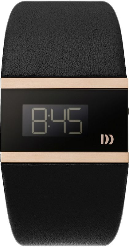 Danish Design IV17Q781 Zwart & roségoud digitaal horloge