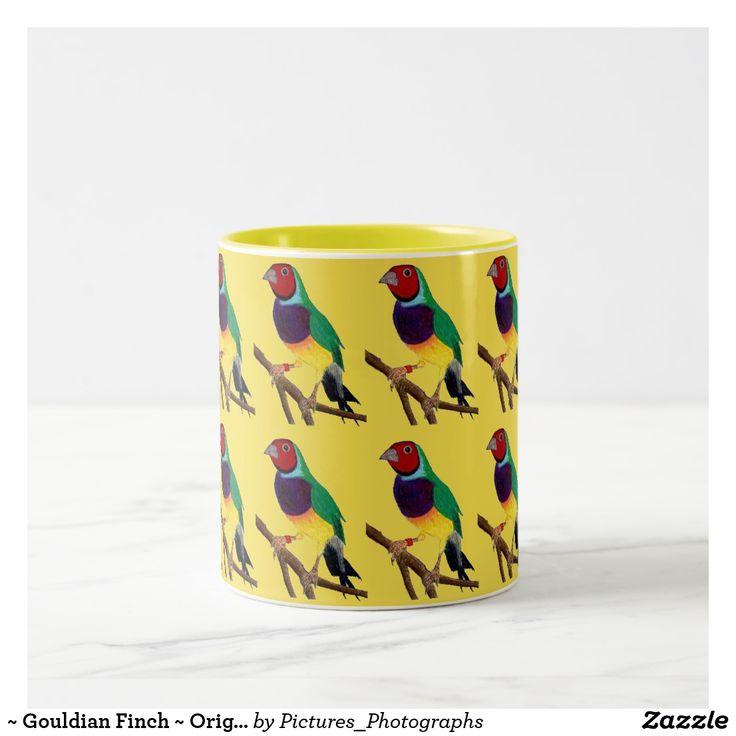 ~ Gouldian Finch ~ Original Art ~ Two-Tone Coffee Mug