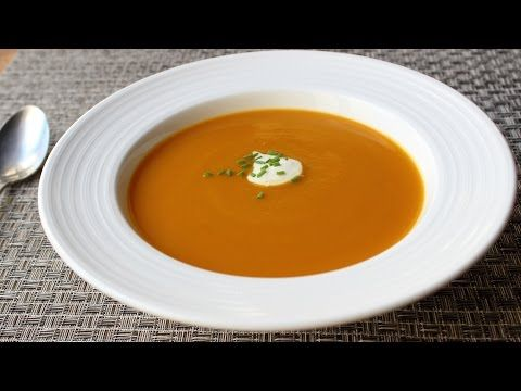 Roasted Thai Butternut Squash Soup: Paleo, Low carb - YouTube