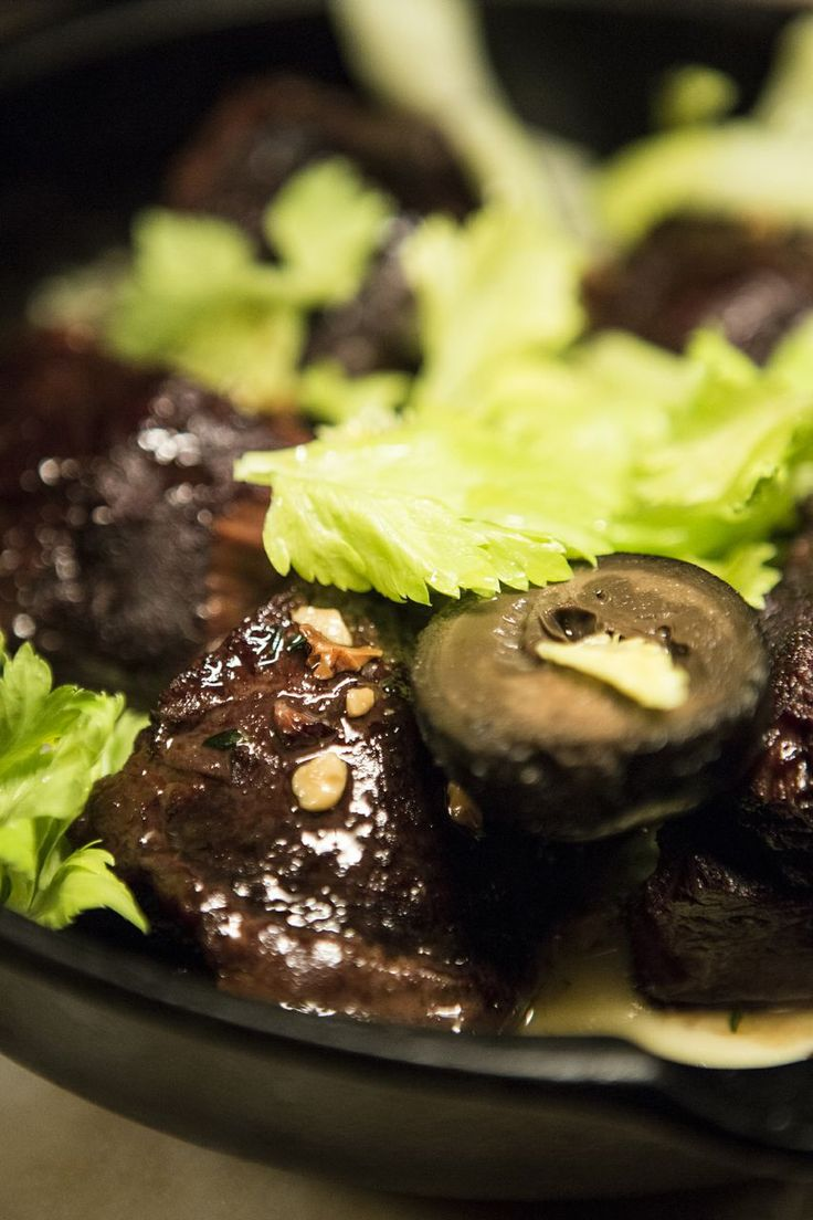 Ox Cheeks with Pickled Walnuts