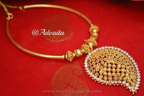 Gold Plated Short Necklace Designs
