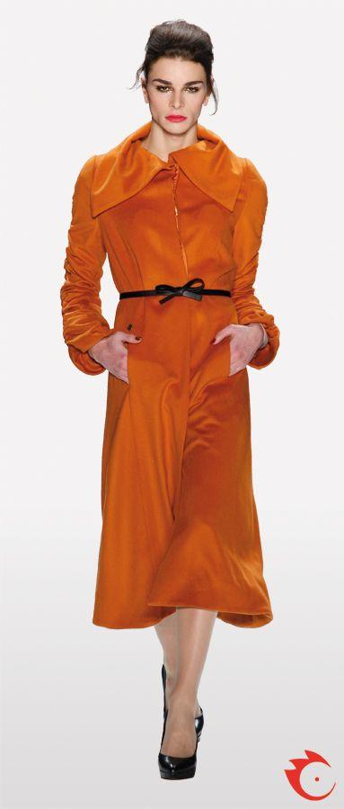 anja gockel orange sophisticated long must have jacket