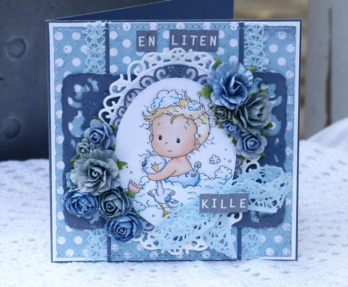 Blue Baby Card created for Papirdesign.