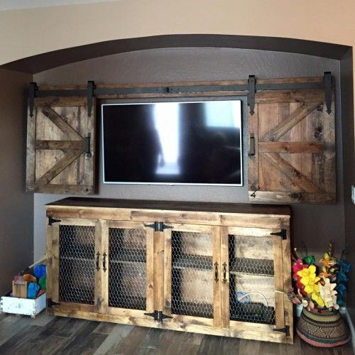 DIY Sideboard; i would replace the chicken wire with frosted or clear patterned stained glass....