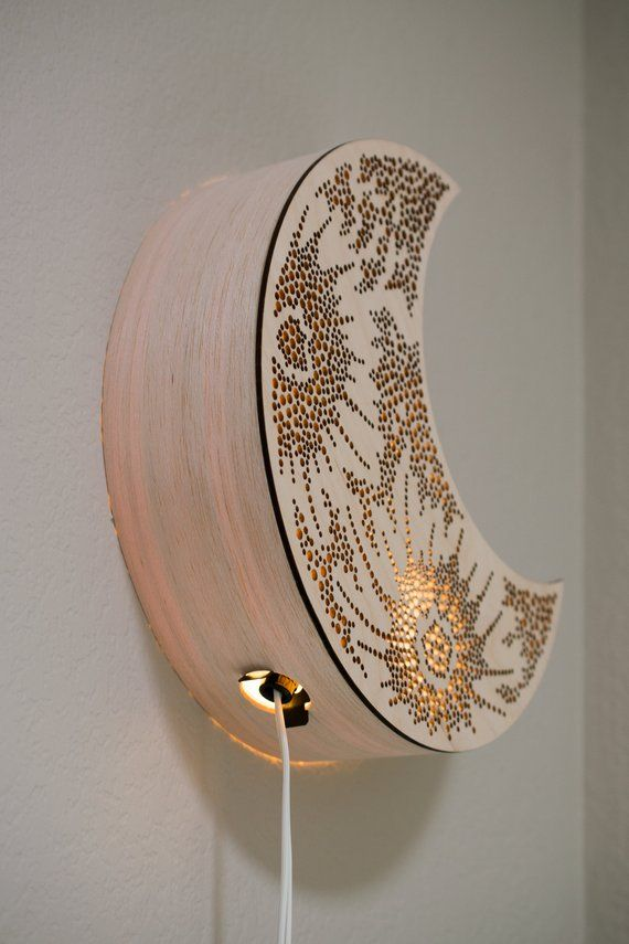 Pre Order Crescent Moon Night Light Wooden Bedside Lamp Etsy In 2020 Wooden Bedside Lamps Crescent Moon Light Lamp