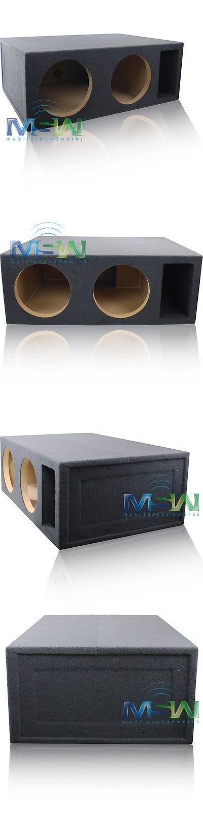 Speaker Sub Enclosures: 5 Cu. Ft. Custom-Vented Dual 12 Mdf Car Subwoofer Box Enclosure - Tuned @ 34Hz -> BUY IT NOW ONLY: $249.99 on eBay!