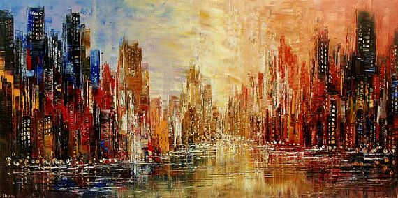 98 Best Images About Cityscape Paintings On Pinterest
