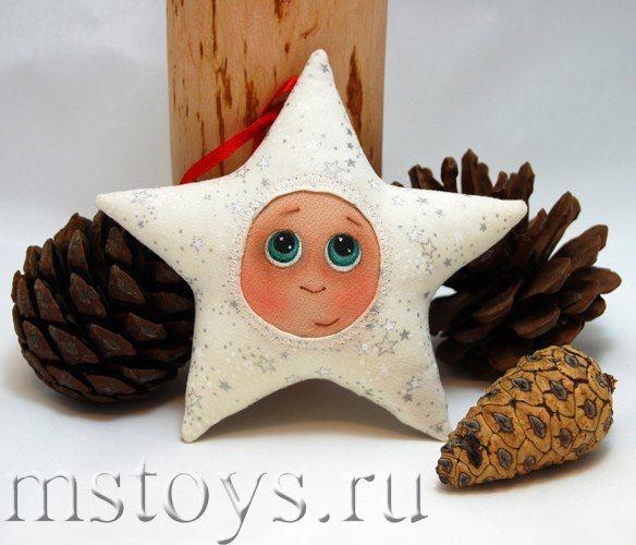 Звездочка - текстильная игрушка на елочку / Слабый пол!