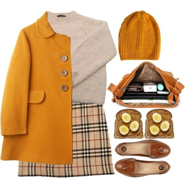 by yasmin-louise on Polyvore, orange, 60s, vintage, retro, outfit, autumn, loafers, fashion, style