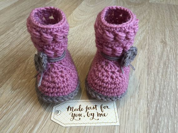 Crochet Baby Girl Willow Boot  Baby Shower Gift от StefaniaDA2015