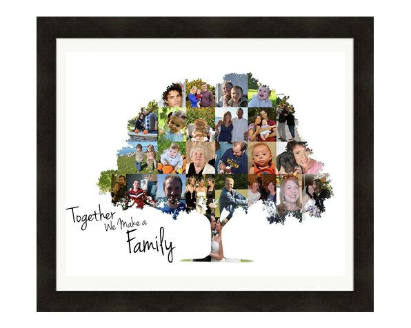 Family Tree Wall Art, Personalized Gift,  Photo Collage, Art Print, Heritage, Ancestry, Custom Made from your Photographs, by LuluBluePhoto on Etsy