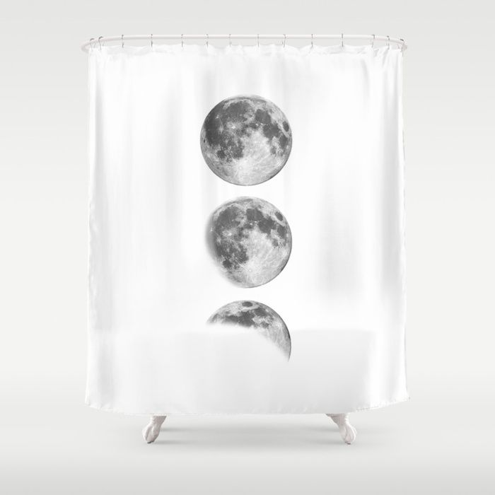 Full Moon Cycle Black White Photography Print New Lunar Eclipse Poster Bedroom Home Wall Decor Shower Curta Home Wall Decor Bedroom Posters Bathroom Wall Decor