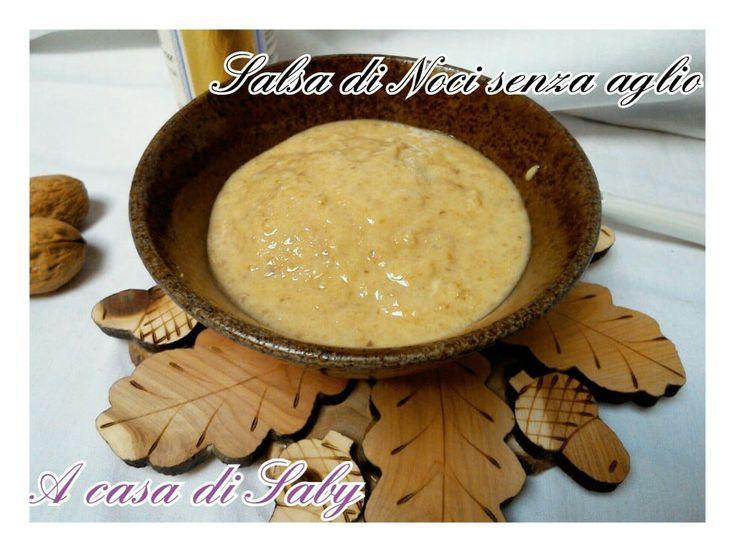 Una deliziosa salsa della tradizione ligure, qui nella versione senza aglio.