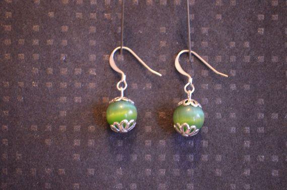 Glass bead earrings / Lasihelmi korvakorut