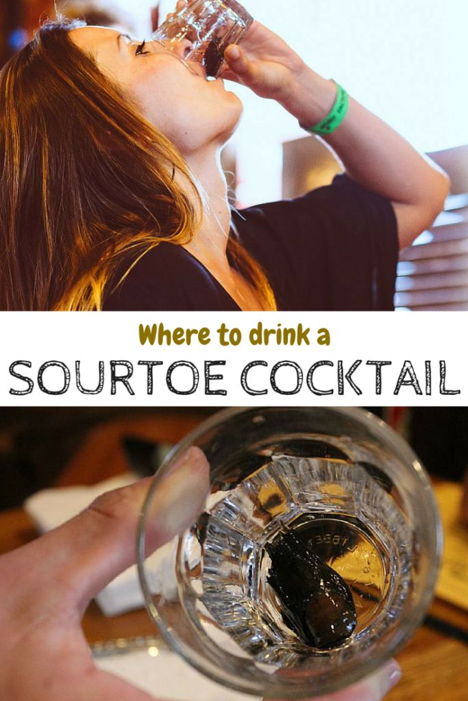 Drinking a Sourtoe Cocktail in Dawson City, Yukon- the drink with a real human toe in it!