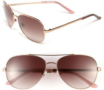 Women's Kate Spade New York 'Avaline' 58Mm Aviator Sunglasses - Rose Gold/ Brown Gradient