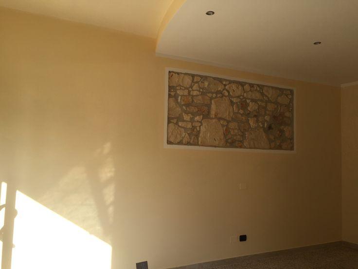 """creazione di pareti con """"sasso a vista"""""""