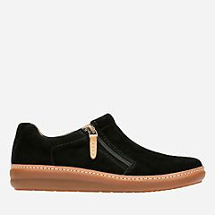 Amberlee Vita Black Suede - Womens Medium Width Shoes - Clarks® Shoes Official Site