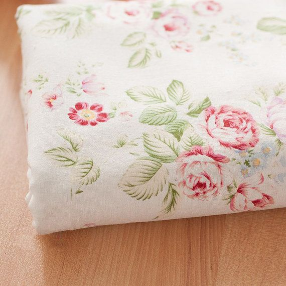 Cotton linen fabric, Floral cotton linen fabric. Beautiful roses on ivory white background. One of the best quality cotton linen fabrics I have. Heavy weight good for upholstery, curtain, table cloth, throw pillows, etc  Heavy weight: 330g/yard (11.6 oz/yard) Width: 55 (140cm). Minimum Order is 1/2 yard: 18X55 (45cmX140cm)  ***Please select your length from the quantity drop (1= 1/2yard, 2= 1yard, 3= 1 1/2 yard, 4=2 yards, etc) multiple quantities ...
