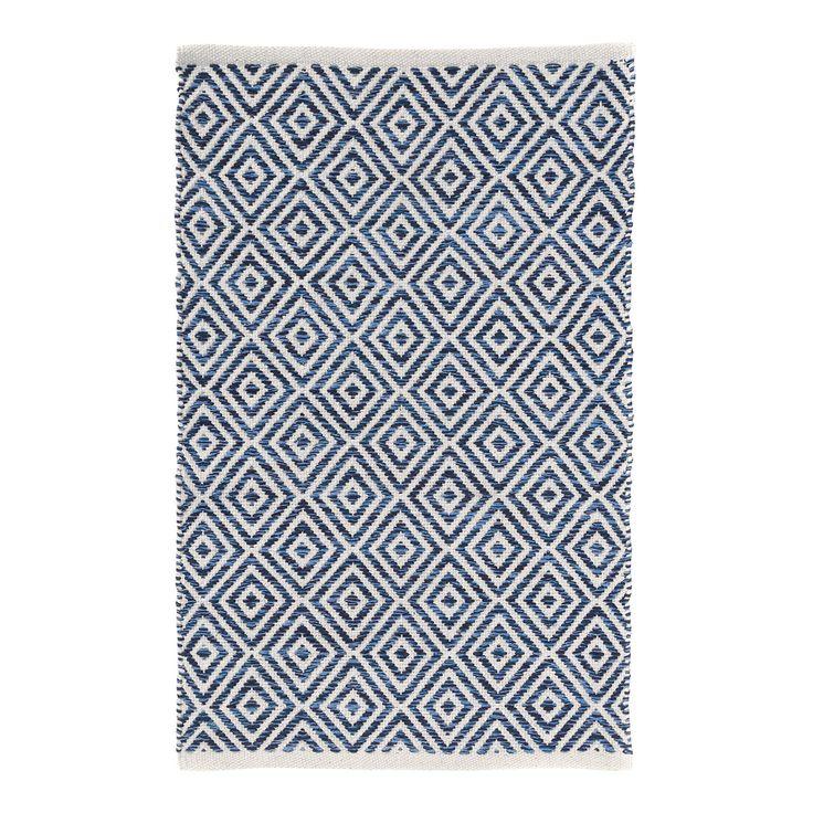 Alfombra El Corte Inglés. Alfombra con estampado geométrico en azul