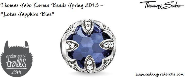 Thomas Sabo Karma Beads Lotus Sapphire Blue