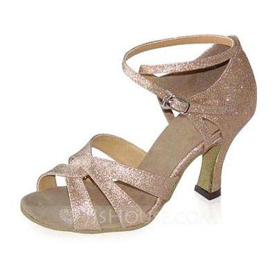 Chaussures+de+danse+-+$51.99+-+Femmes+Pailletes+scintillantes+Talons+Sandales+Latin+avec+Lanière+de+cheville+Chaussures+de+danse+(053021658)+http://jjshouse.com/fr/Femmes-Pailletes-Scintillantes-Talons-Sandales-Latin-Avec-Laniere-De-Cheville-Chaussures-De-Danse-053021658-g21658
