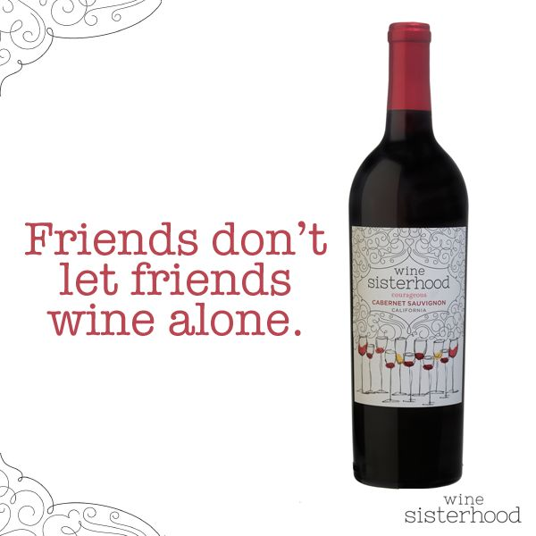 Be a friend. Open a bottle of #wine with a #WineSister today. Find one near you: