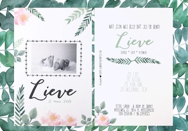 Dit kaartje is een van onze favorieten! #geboortekaartje