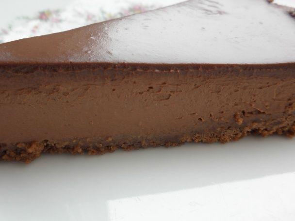 Čokoládový nepečený cheesecake (fotorecept) - obrázok 12