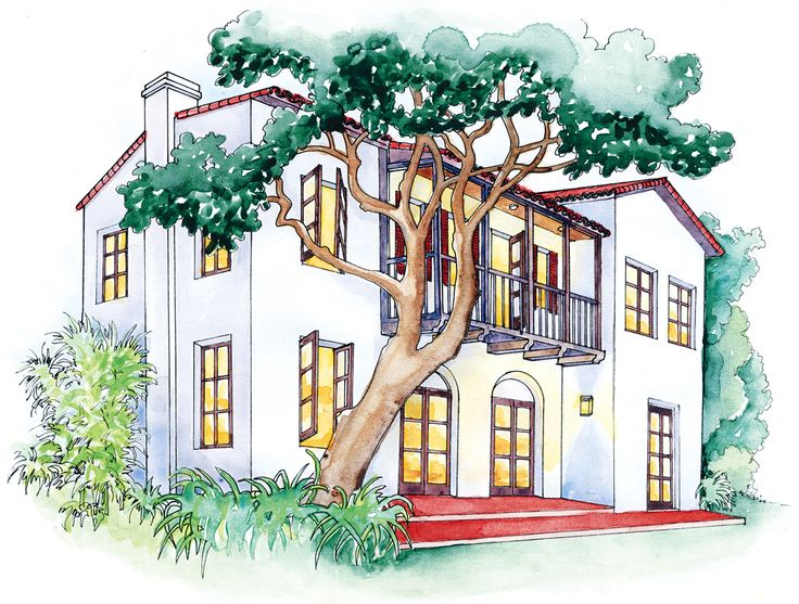 Monterey style | Revival architecture, Low pitch and