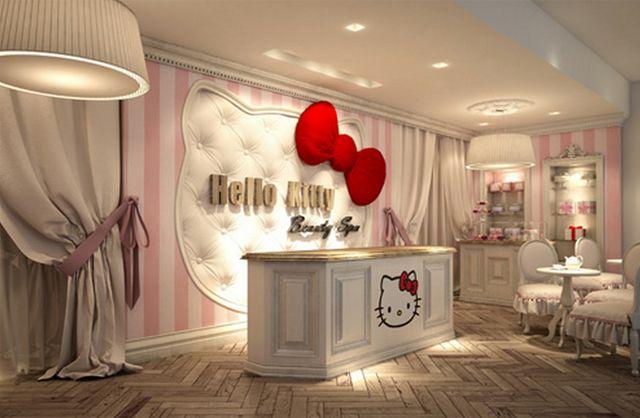 HELLO KITTY SPA IN DUBAI!! SEND ME NOW!!: Kitty Spa, Dreams Houses, Salons Ideas, Kitty Beautiful, Spa Open, Beautiful Spa, Pink Cupcakes, Hello Kitty, Girls Rooms