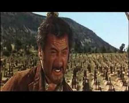 """¡Eh rubio! ¿sabes de quién eres hijo? ¡eres un hijo de mil padres!!! Escena final de """"el bueno,el malo y el feo"""" de  Sergio Leone..."""