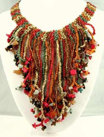 Beaded Jewelry. Could be translated into fiber art :)