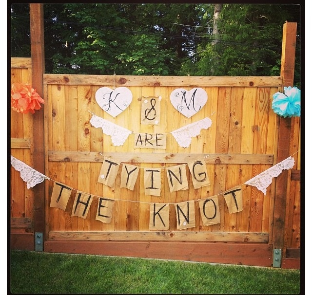 GREAT decor idea for an engagement party or bridal shower