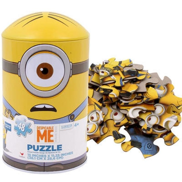 "Despicable Me Puzzle for Kids - Minions 48pc Jigsaw Puzzle in Capsule Tin - 15"" #CardinalIndustries"