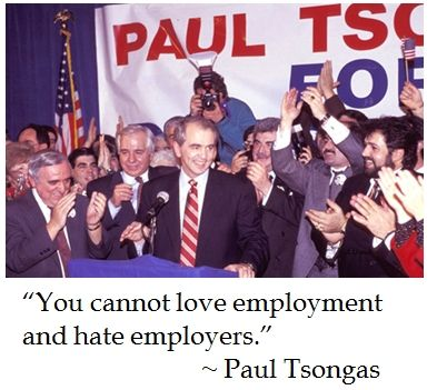 Ex Senator Paul Tsongas (D-MA) on the #politics of #economics #quotes