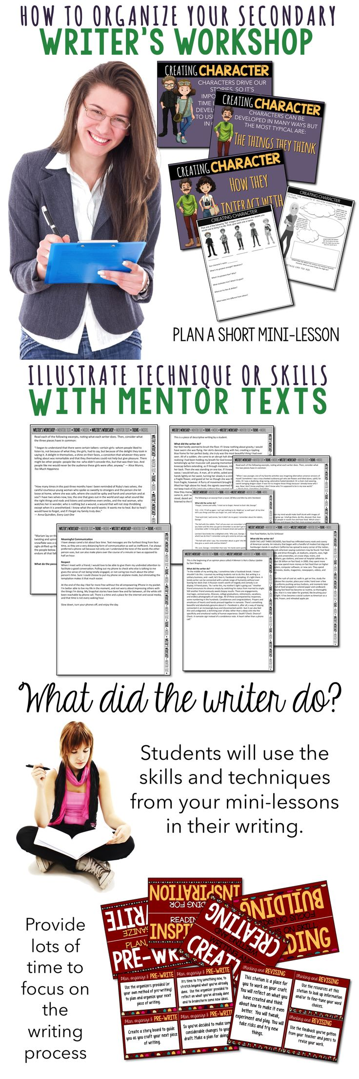Let me help you with your workshop! I've got the mini-lessons, the mentor texts and the learning stations. You just need to supply the students! Come on over to Room 213.