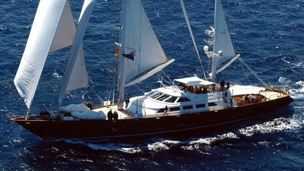 Sailing Yacht Corelia. Considered as modern ketch motor sailer, this 48 m (158 ft) luxury yacht was crafted at Perini Navi in 1993.