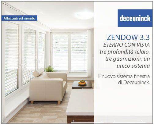 Zendow 3.3: tre profondità telaio, tre guarnizioni, un unico sistema. Nuovo da #Deceuninck per le tue finestre. Il #serramento perfetto che offre design, un'ampia gamma colori ed un'alta prestazione termica.  Scegli il serramento con 3 guarnizioni che più si addice alla tua abitazione. #Zendow 3.3 incontra i tuoi gusti e ti lascia decidere il #design delle tue #finestre.