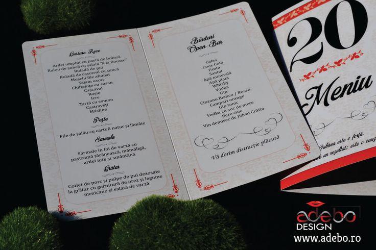 Astazi va prezentam modelul Meniu de masa nunta cu numar inclus Irivan, tiparit pe carton lucios de 300 grame, meniu cu elemente florale in fundal si culoarea de baza a caisului pregatit cu atentie pentru cei care vor sa aiba la nunta lor puse pe mesele invitatilor meniuri cu numere de masa incadrate astfel incat sa nu umpleti masa cu elemente.