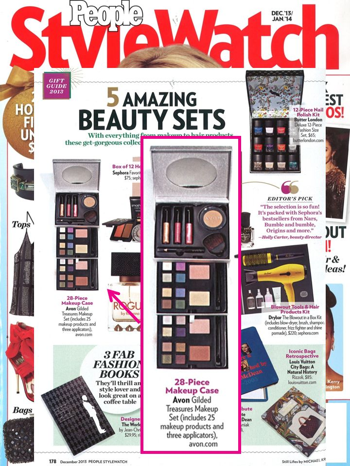 We love #makeuppalettes! Check out our Gilded Treasures Holiday Makeup Set featured in @People magazine magazine stylewatch! #holidaymakeup