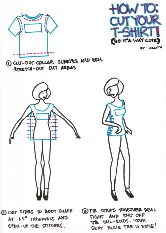 93 best T shirt cutting designs images on Pinterest | DIY, Diy ...