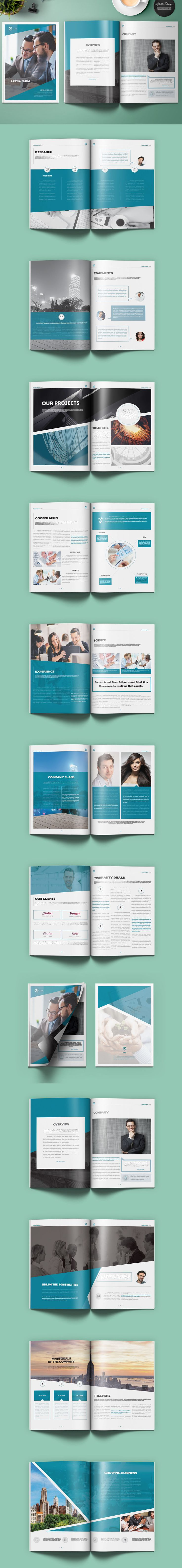 Lorem Company Profile Brochure 26 Pages  A4 & US letter Template InDesign INDD