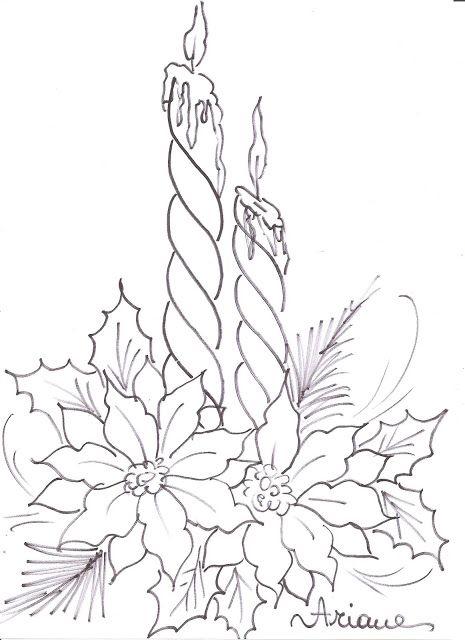 Christmas Flower Line Drawing : Ideias exclusivas de velas natal no pinterest