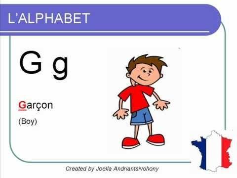 French lesson 1 - Learn French Alphabet - Alphabet Français Alfabeto Cur...
